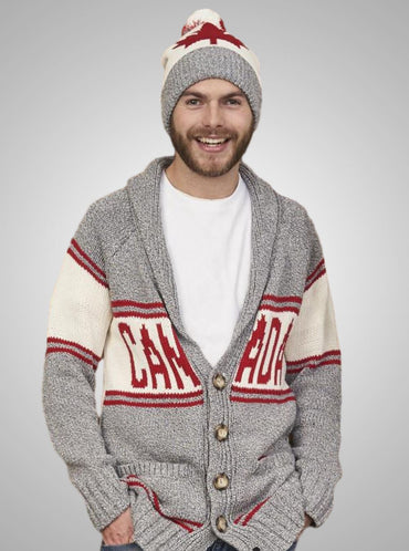 Men's Canada Shawl Collar Cardigan