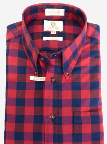 Button-Down Collar, Long Sleeve, Plaid Sport Shirt Style: 451422