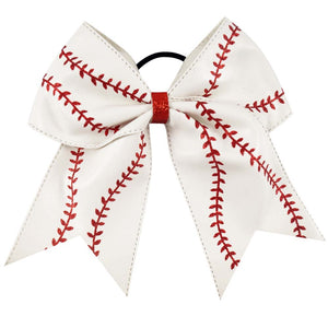 "7"" Baseball or Softball Cheer Bow - RTS"