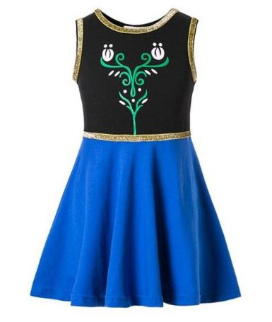 Anna Inspired Sleevess Princess Dress