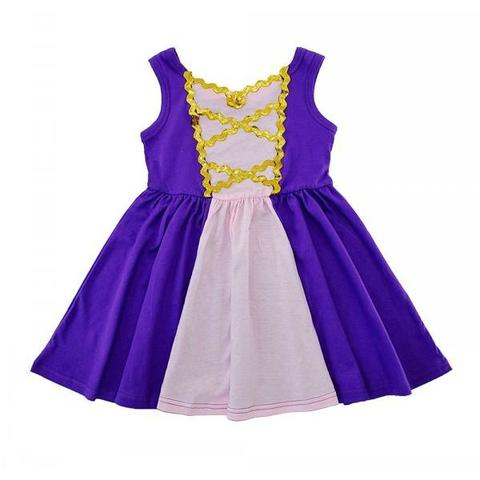 Rapunzel Inspired Sleeveless Princess Dress