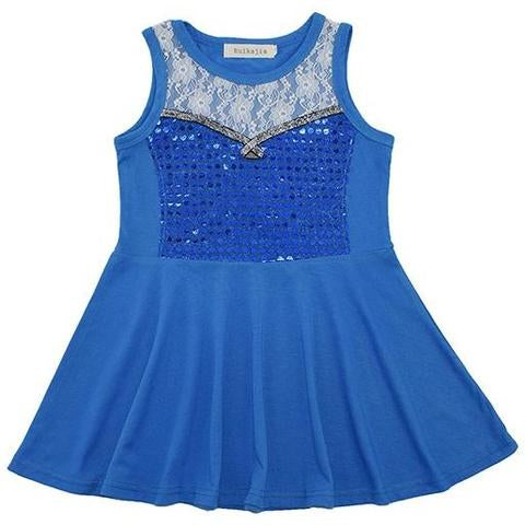 Elsa Inspired Sleeveless Princess Dress