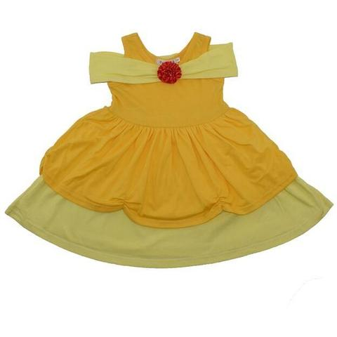 Belle Inspired Sleeveless Princess Dress