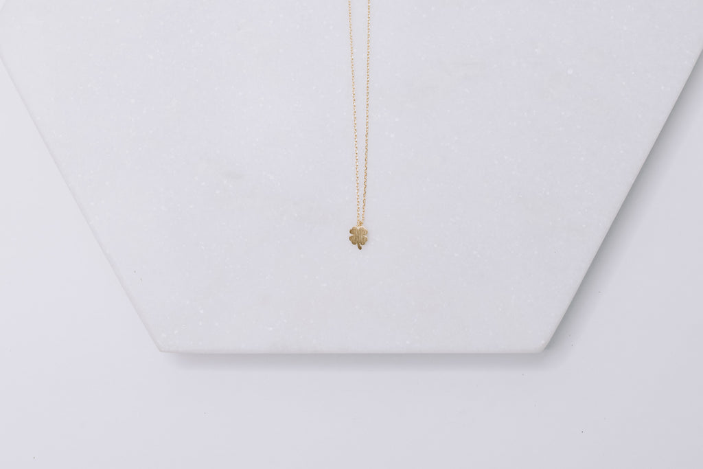 "Shamrock ""Good Luck"" necklace"