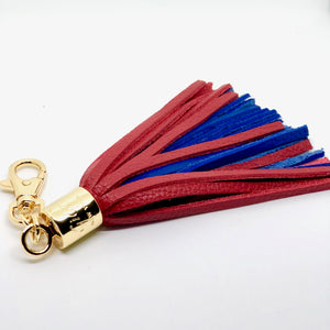 Buffalo Leather Tassel Keychain