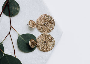 Delaney Disk Earrings