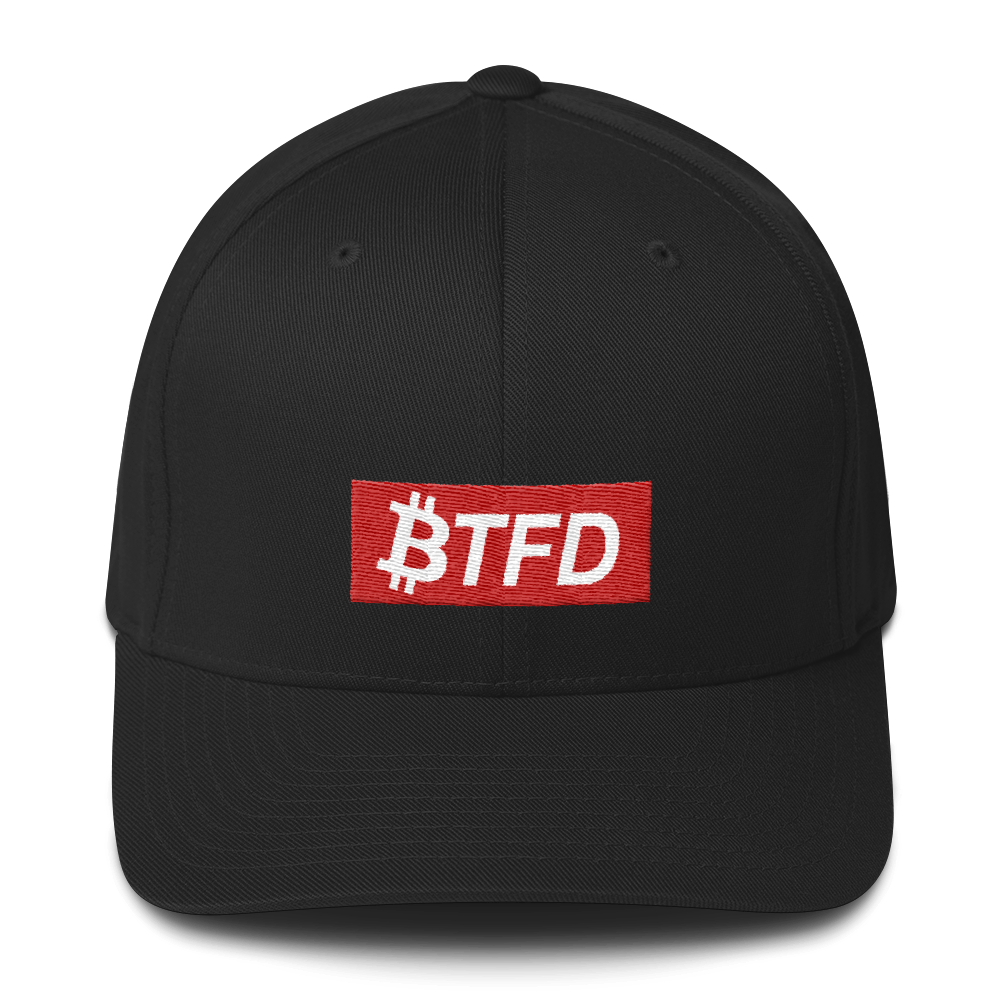 BTFD Bitcoin Red Box Structured Twill Cap