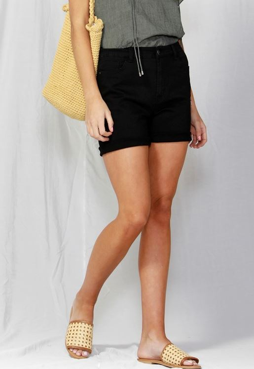 Kurt Shorts Black Denim