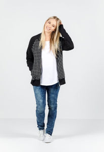 Grid Bomber Jacket