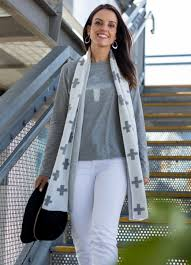 SILVER CROSS LUREX SCARF