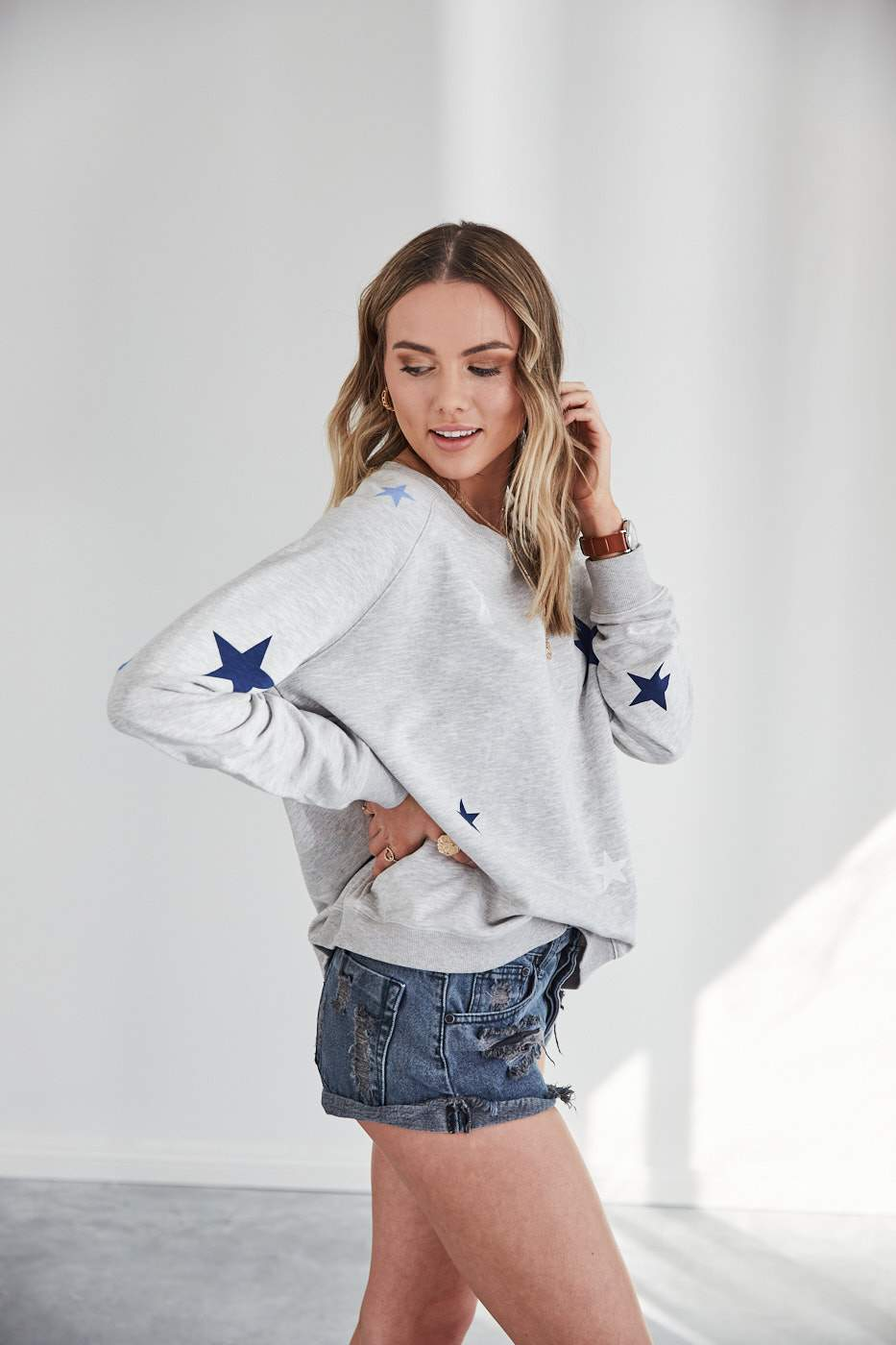 GREY ZIGGY SWEATER