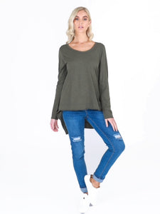 Khaki Willow Tee
