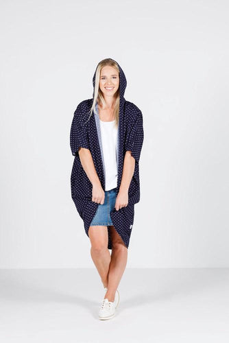 Navy Polka Dot Ninja Jacket