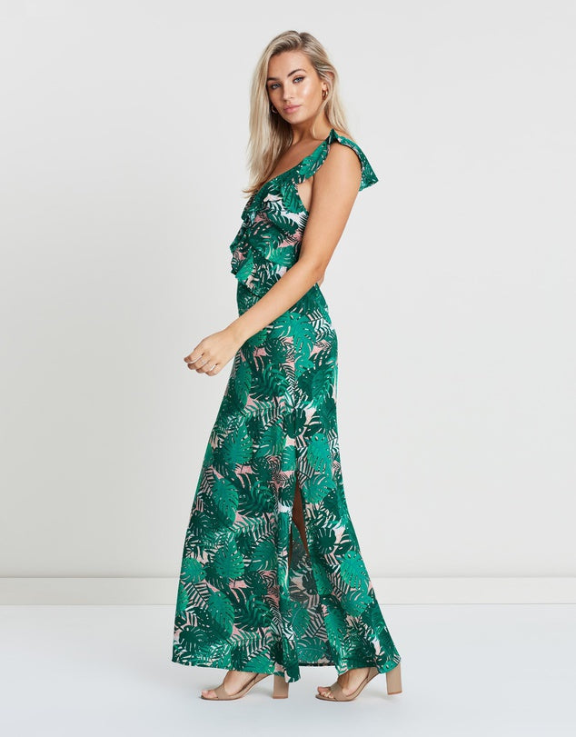 Tropicana Ruffle Maxi Dress