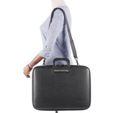 Bombata Bag All Black Bombata Briefcase for 17 inch laptop Taormina by Fabio Guidoni