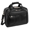 McKlein R Series 8358 Chicago Leather Detachable Wheeled Laptop Overnight W/ Removable Brief