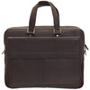 "Mancini Leather Slim Laptop/tablet Briefcase, 16.25"" x 2.5"" x 12"", Brown"