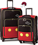 American Tourister Disney Softside Spinner 2 piece Luggage set 21 and 28 and Travel Pillow