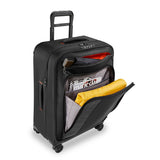 Briggs & Riley ZDX Medium Expandable Spinner Luggage Black