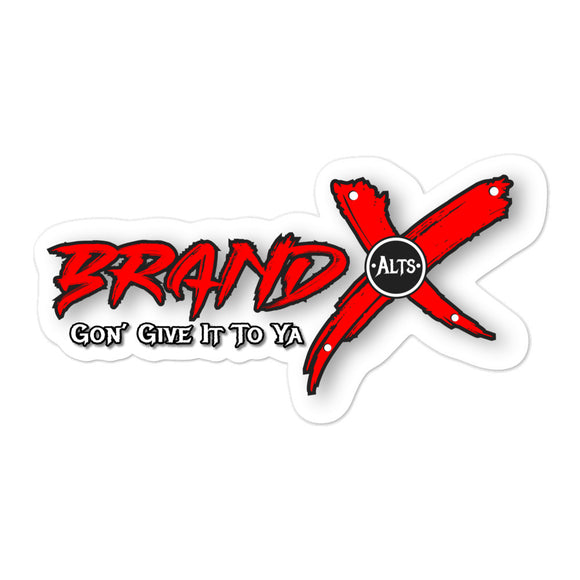 BRAND  X ALTS DECAL