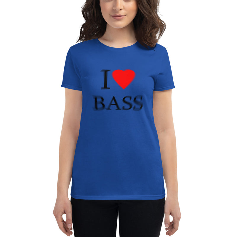 Women's short sleeve I LOVE BASS  tee