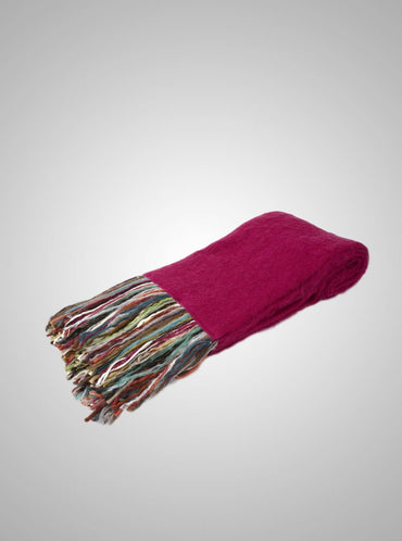 "The Fringe Benefit > Hot Pink Mohair Throw 70"" X 53"""
