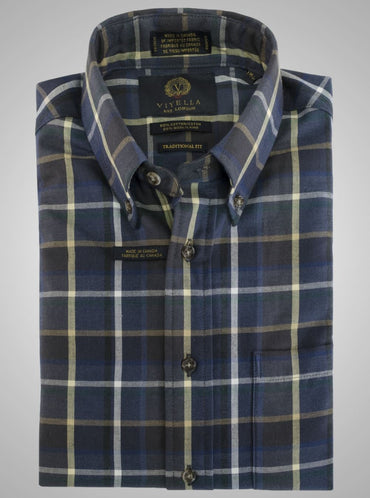 Viyella Traditional Fit Plaid Shirt