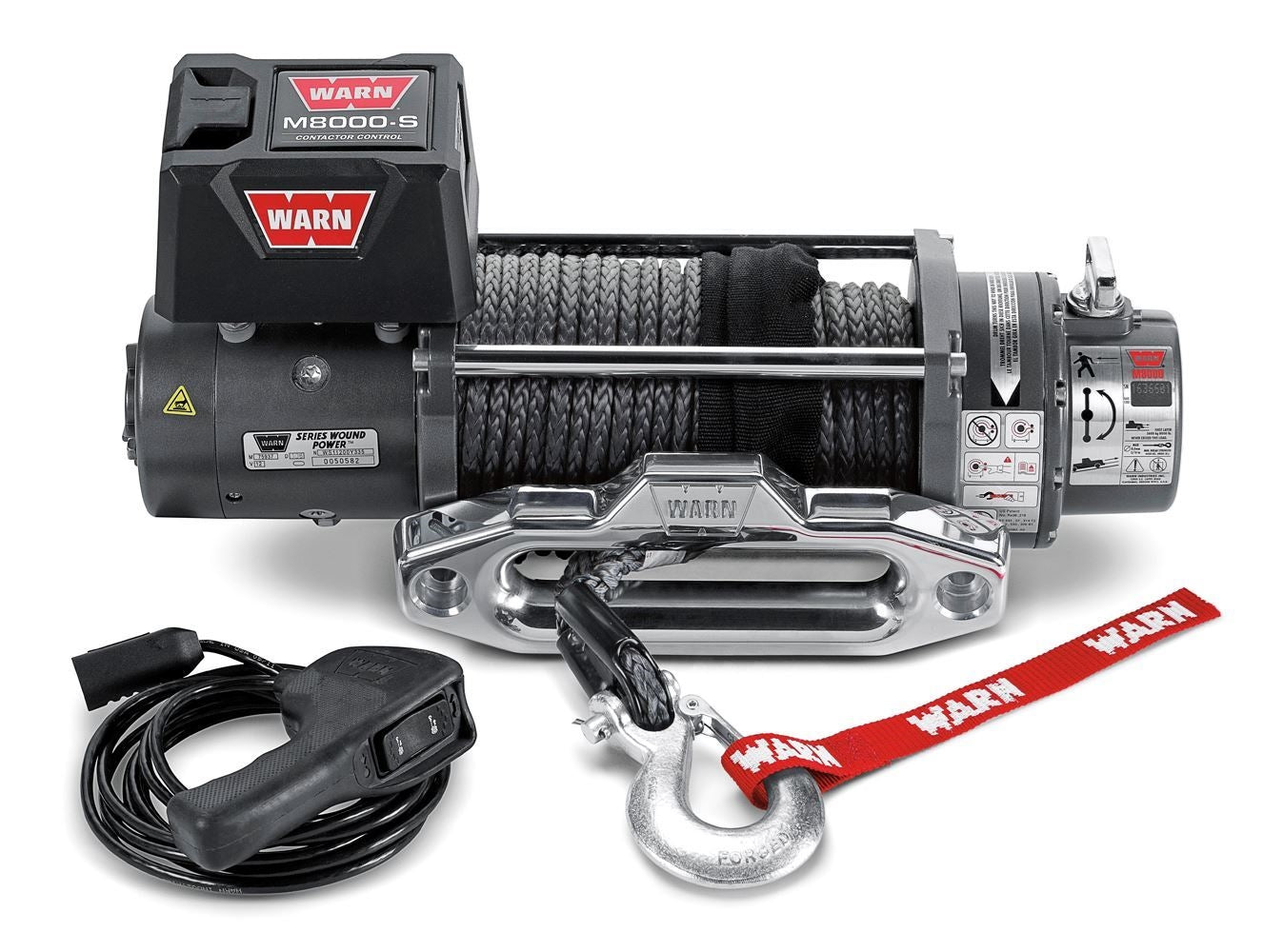 Warn Industries M8000-s 8,000lb Self-Recovery Winch - 87800