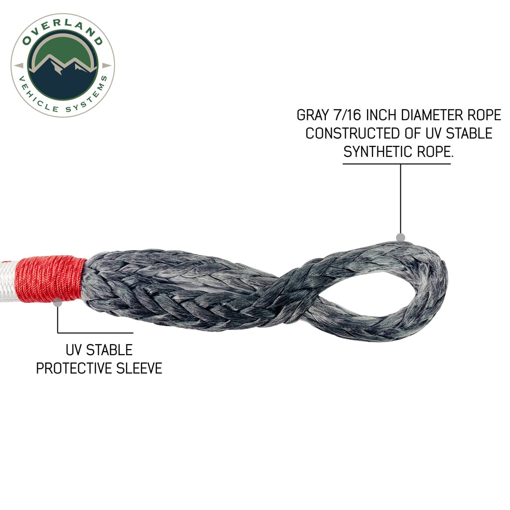 Overland Vehicle Systems Soft Shackle - With Loop & Abrasive Sleeve -  With Storage Bag