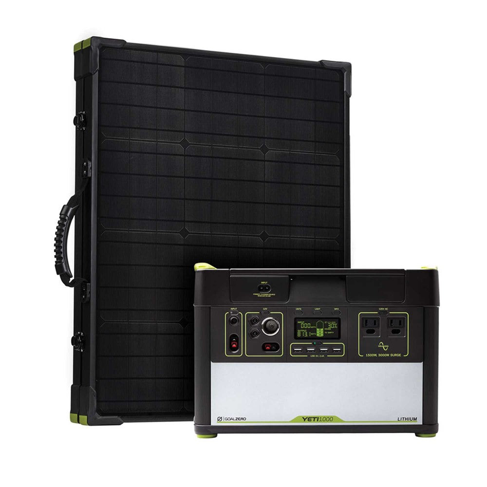GOAL ZERO YETI 1000 LITHIUM POWER STATION + BOULDER 100 SOLAR KIT - PRE ORDER FOR MARCH 2021 Delivery