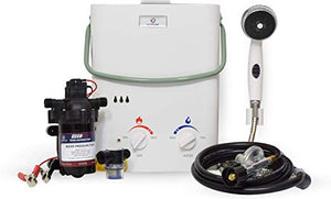 EccoTemp L5 Tankless Water Heater w/ EccoFlo 12v Water Pump and Strainer