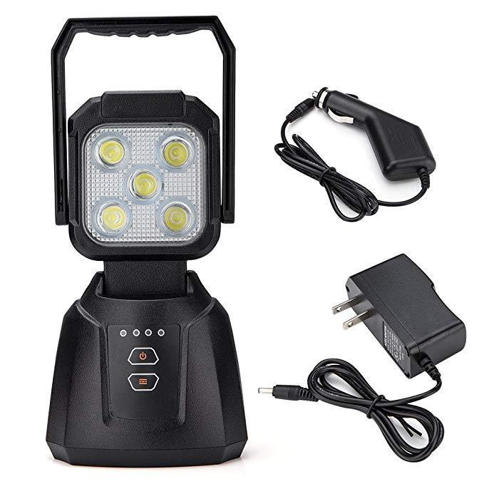 15W Magnetic Base Rechargeable LED Work/Camp Light - Cali Raised LED