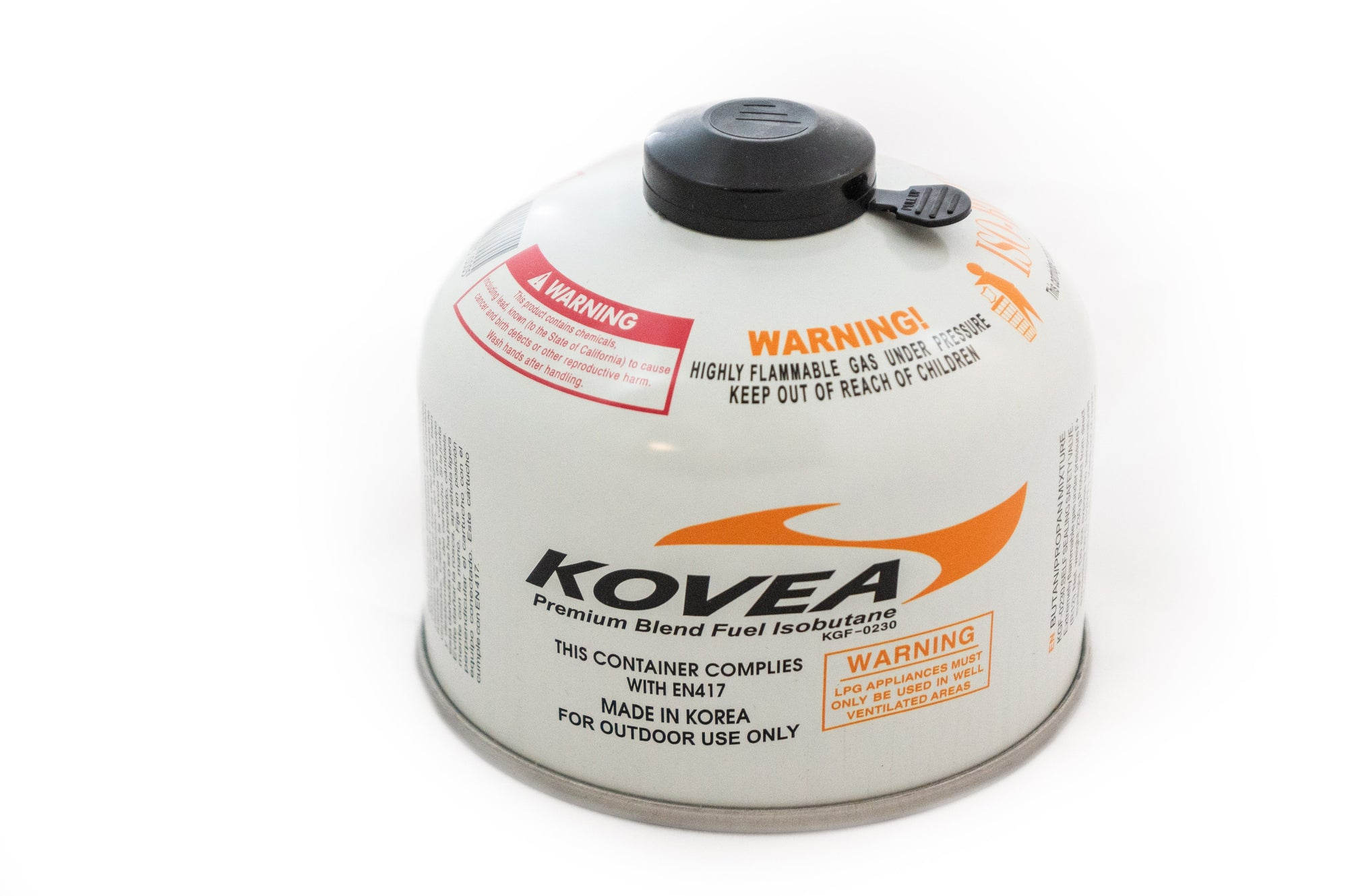Kovea 230g Screw-on style Isobutane gas canister - Bulk Pack of 24