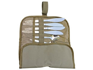 Camp Cover Compact Cutlery Roll Up 4 Set Kit