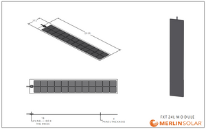 4thD Solar FX24L Low-Profile Junction Solar Panel (110W)