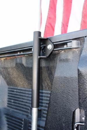 Toyota Bed Rail - Flag Holder - Rago Fabrication