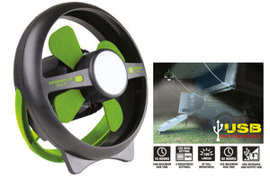 Ironman 4X4 Rechargeable Tent Fan With LED Light