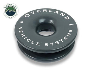 Overland Vehicle Systems Recovery Ring/Winch Snatch Block; 41,000 Pound Capacity; 4 Inch; With Storage Bag