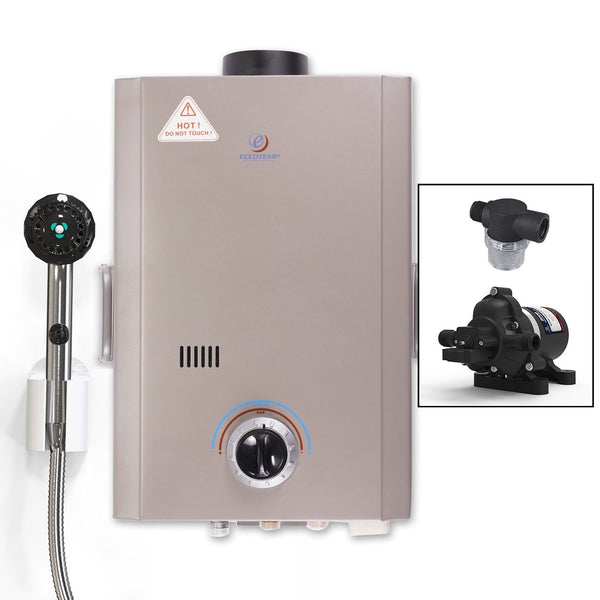 Eccotemp L7 Portable Tankless Water Heater w/ EccoFlo 12v Pump and Strainer
