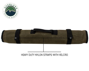 Overland Vehicle Systems Rolled Bag Socket With Handle And Straps - #16 Waxed Canvas Universal