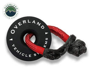 Overland Vehicle Systems Recovery Ring/Winch Snatch Block; 45,000 Pound Capacity; 6.25 Inch; With Storage Bag