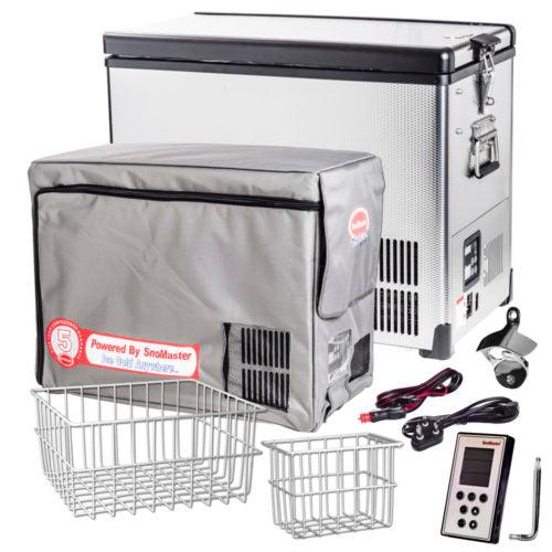 SnoMaster Traveler Series (TR42SS) Stainless Steel | AC/DC | Fridge/Freezer