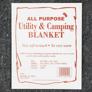 Wool Blanket—All Purpose/Utility - Grey