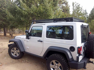 Front Runner Jeep Wrangler JK 2 Door (2007-Current) Full Slimline II Extreme Roof Rack Kit