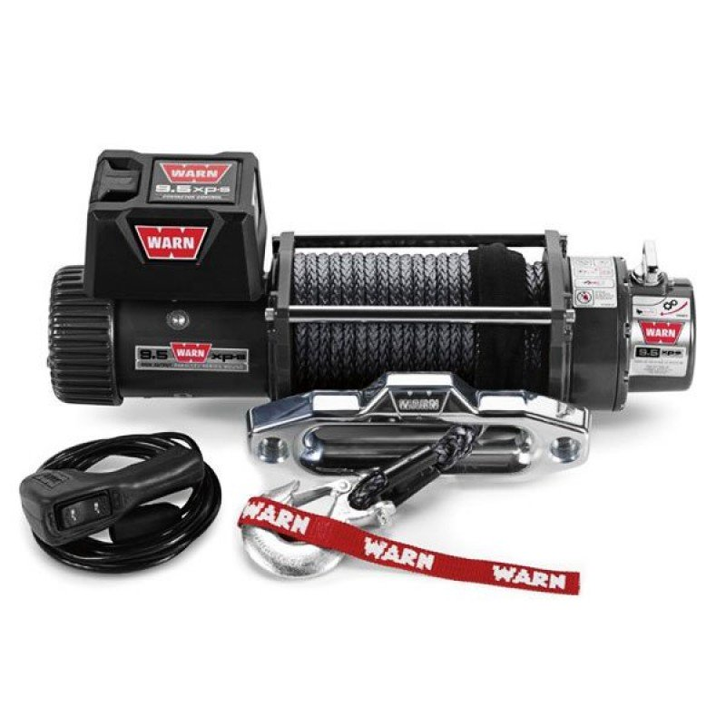 WARN Industries 9.5XP-S Self-Recovery Winch with Spydura Synthetic Rope - 9,500 lbs.