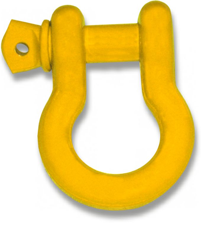 "3/4"" D-RING SHACKLES ? 'OME YELLOW' POWDERCOATED (SINGLE)"