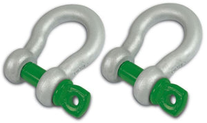 "3/4"" D-RING SHACKLES - VanBeest Green Pin (PAIR)"