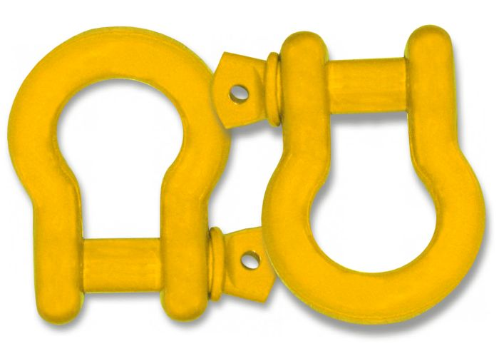 "3/4"" D-RING SHACKLES ? 'OME YELLOW' POWDERCOATED (PAIR)"