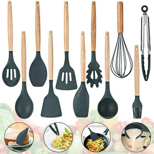 11 pcs. Silicone Kitchen Cooking Utensils
