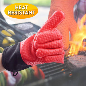 Heat Resistant Silicone Kitchen Gloves (2Pcs)